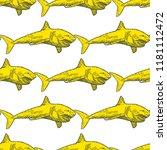 shark seamless pattern hand... | Shutterstock .eps vector #1181112472
