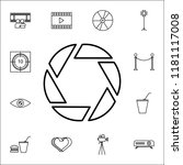aperture icon. cinema icons... | Shutterstock .eps vector #1181117008