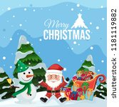 merry christmas santa and... | Shutterstock .eps vector #1181119882