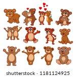 cartoon bear collection set | Shutterstock . vector #1181124925