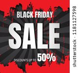 black friday sale flyer or... | Shutterstock .eps vector #1181127598