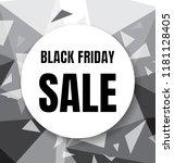 black friday sale flyer or... | Shutterstock .eps vector #1181128405