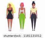 set with beautiful women.... | Shutterstock .eps vector #1181131012
