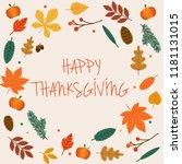 happy thanksgiving day.... | Shutterstock .eps vector #1181131015
