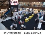 activity inside gurney plaza... | Shutterstock . vector #1181135425