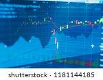 business candle stick graph... | Shutterstock . vector #1181144185