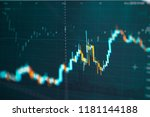 business candle stick graph... | Shutterstock . vector #1181144188