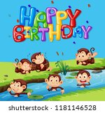 happy birthday template with... | Shutterstock .eps vector #1181146528