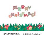 merry christmas background.... | Shutterstock .eps vector #1181146612