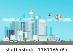 modern city life. modern... | Shutterstock .eps vector #1181166595