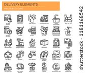 delivery elements   thin line... | Shutterstock .eps vector #1181168542