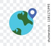 worldwide vector icon isolated... | Shutterstock .eps vector #1181171995
