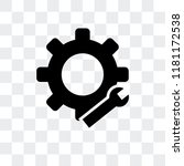 settings vector icon isolated... | Shutterstock .eps vector #1181172538