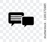 conversation vector icon...   Shutterstock .eps vector #1181172685