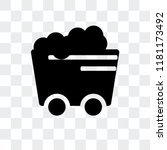 coal wagon vector icon isolated ... | Shutterstock .eps vector #1181173492