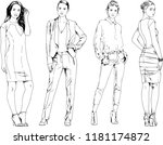 vector drawings on the theme of ... | Shutterstock .eps vector #1181174872