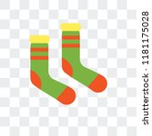 socks vector icon isolated on... | Shutterstock .eps vector #1181175028