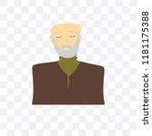 grandfather vector icon... | Shutterstock .eps vector #1181175388