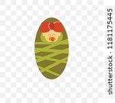 newborn vector icon isolated on ... | Shutterstock .eps vector #1181175445