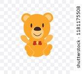 teddy bear vector icon isolated ... | Shutterstock .eps vector #1181175508
