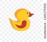 rubber duck vector icon... | Shutterstock .eps vector #1181175532
