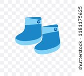 socks vector icon isolated on... | Shutterstock .eps vector #1181175625