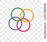 rubber bands vector icon... | Shutterstock .eps vector #1181180638