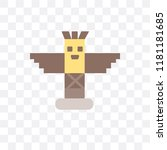 totem vector icon isolated on... | Shutterstock .eps vector #1181181685