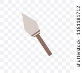 spear vector icon isolated on... | Shutterstock .eps vector #1181181712