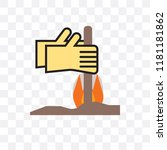 bonfire vector icon isolated on ... | Shutterstock .eps vector #1181181862