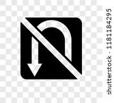 no turn vector icon isolated on ... | Shutterstock .eps vector #1181184295