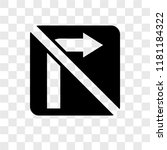 no turn right vector icon... | Shutterstock .eps vector #1181184322