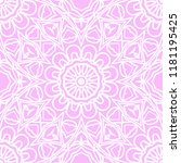 floral geometric pattern with... | Shutterstock .eps vector #1181195425