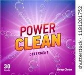 detergent advertising concept... | Shutterstock . vector #1181201752