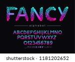 fancy vector font and alphabet. ... | Shutterstock .eps vector #1181202652