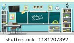 vector illustration of an empty ... | Shutterstock .eps vector #1181207392