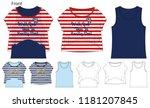 vector illustration of t shirt.  | Shutterstock .eps vector #1181207845