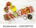 brushetta or traditional... | Shutterstock . vector #1181209732
