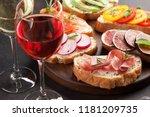 brushetta or traditional... | Shutterstock . vector #1181209735