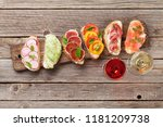 brushetta or traditional... | Shutterstock . vector #1181209738