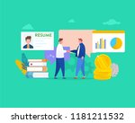 people meeting and talking... | Shutterstock .eps vector #1181211532