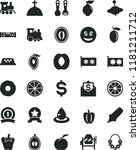 solid black flat icon set... | Shutterstock .eps vector #1181211712
