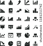 solid black flat icon set... | Shutterstock .eps vector #1181211742