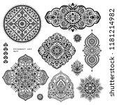 vector set of mandalas  design... | Shutterstock .eps vector #1181214982