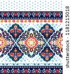 indian rug tribal ornament... | Shutterstock .eps vector #1181215018