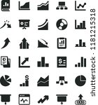 solid black flat icon set... | Shutterstock .eps vector #1181215318