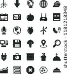 solid black flat icon set... | Shutterstock .eps vector #1181218348
