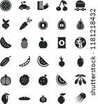 solid black flat icon set loaf...   Shutterstock .eps vector #1181218432