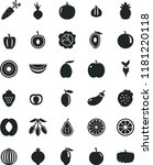 solid black flat icon set beet... | Shutterstock .eps vector #1181220118