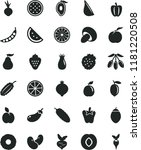 solid black flat icon set... | Shutterstock .eps vector #1181220508